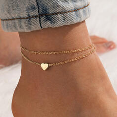 Fashionable Alloy With Heart Women's Ladies' Anklets