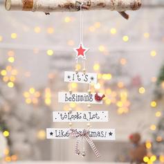 Kerstmis vrolijk kerstfeest opknoping Houten