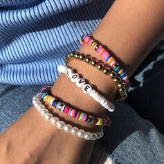 Letter Kleurrijk Boho Gelaagd Kralen Armbanden 5 STUKS