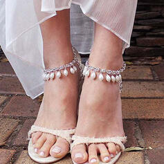 Attractive Charming Pretty Elegant Alloy With Pearls Anklets