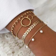 Heetste Legering met Imitatie Parel Sieraden Sets Armbanden Strand sieraden (4 stuks)