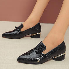 Women's PU Chunky Heel Sandals Flats Closed Toe With Solid Color shoes