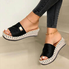 Women's Suede Wedge Heel Sandals Platform Wedges Peep Toe Slippers With Others Solid Color shoes
