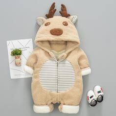 Baby Christmas Deer Animal Edgy Cotton One-piece