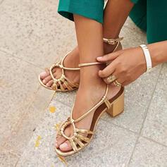 Women's PU Chunky Heel Sandals Pumps Peep Toe Slingbacks Heels shoes