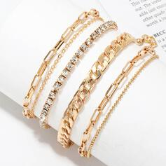 Oneindigheid Mooi Heetste Gelaagd Legering met Steentjes Armbanden 6 STUKS