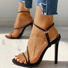 Women's Fabric Stiletto Heel Sandals Pumps Peep Toe With Others shoes