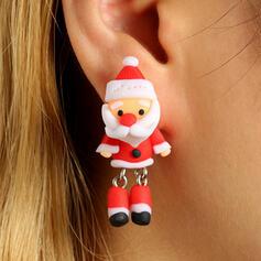 Christmas Christmas Santa Alloy Soft Clay Women's Earrings 2 PCS