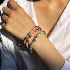 Kleurrijk Boho Legering Touw uit Leder Zachte klei Armbanden