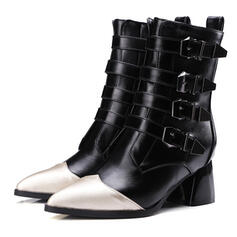 Women's Leatherette Low Heel Boots Riding Boots Winter Boots Combat Boots shoes
