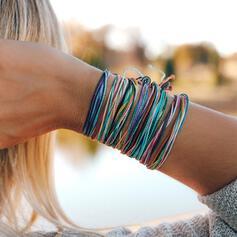 Kleurrijk Boho Legering Gevlochten Touw Armbanden