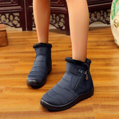 Vrouwen Doek Stof Flat Heel Flats Laarzen Enkel Laarzen Snowboots Ronde neus met Rits schoenen