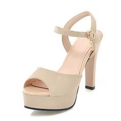 Vrouwen Suede Stiletto Heel Sandalen Pumps Plateau Peep Toe Slingbacks met Gesp schoenen