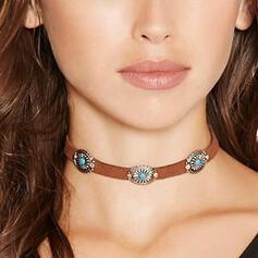 Vintage Boho Alloy Leather Women's Necklaces