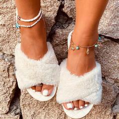 Vrouwen Kunstleer Flat Heel Sandalen Flats Slippers met Anderen schoenen