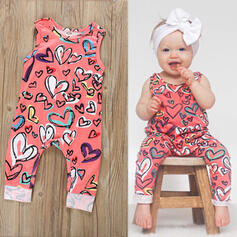 Baby Heart Print Cotton Jumpsuit