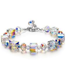 Schijnt Mooi Legering Kristal Armbanden 2 STUKS