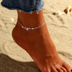 Simple Cool Alloy With Star Anklets