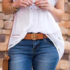Stylish Simple Alloy Leather Women's Belts