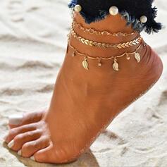 Heetste Legering met Blad Strand sieraden Enkelbanden (Set van 3)