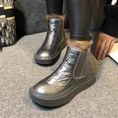 Women's Fabric Flat Heel Round Toe shoes