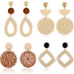 Uniek Prachtige Stijlvol Legering Textiel Oorbellen Strand sieraden (Set van 4 paar)
