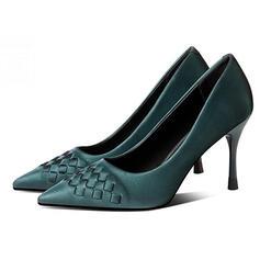 Vrouwen PU Stiletto Heel Pumps Puntige teen met Colorblock schoenen