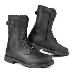 Men's Leatherette Flat Heel Riding Boots High Top Round Toe Winter Boots Combat Boots shoes