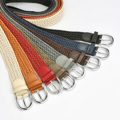Unique Stylish Vintage Simple Metal Buckle Braided Rope Women's Belts 1 PC