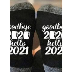 Letter/Print Breathable/Crew Socks/Non Slip/Unisex Socks
