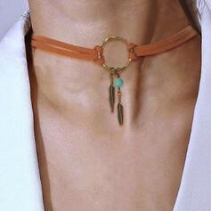 Exotic Boho Alloy Leather Women's Necklaces
