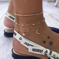 Unique Romantic Alloy Women's Ladies' Unisex Girl's Anklets 3 PCS
