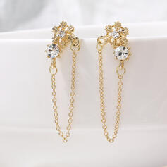 Snowflake Alloy Rhinestones Women's Earrings 2 PCS