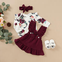 2-pieces Baby Girl Bow Print Set