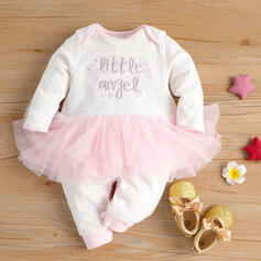 Baby Girl Letter Print Cotton One-piece