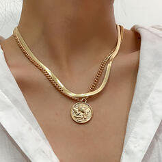 Fashionable Sexy Vintage Alloy With Gold Plated Women's Ladies' Necklaces 1 PC