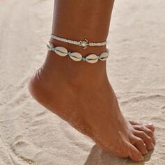 Stijlvol schelpvormige Legering met Schildpad Strand sieraden Enkelbanden