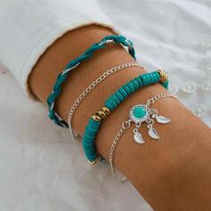 Boho Gelaagd Legering Vrouwen Armbanden 4 STUKS