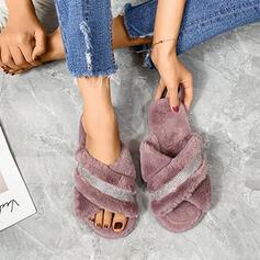 Vrouwen Suede Flat Heel Sandalen met Strass Anderen Effen kleur schoenen