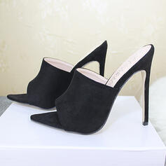 Women's Suede Stiletto Heel Sandals Pointed Toe With Others shoes