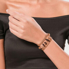 Aantrekkelijk Elegant Gelaagd Legering met Acryl Armbanden