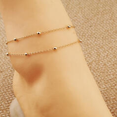 Layered Alloy Women's Ladies' Anklets