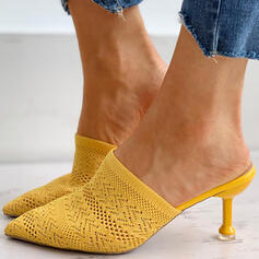 Vrouwen Flying Weave Stiletto Heel Pumps Puntige teen met Hol-out schoenen