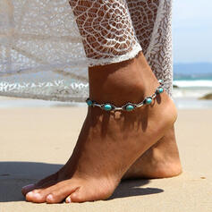 Cool Boho Alloy Turquoise Women's Anklets