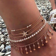Charming Delicate Romantic Alloy With Star Beads Women's Ladies' Girl's Anklets