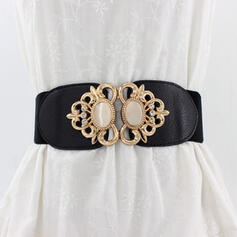Women's Classic/Exquisite/Artistic/Simple Buckle Faux Leather With Rhinestone Belts