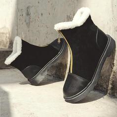 Vrouwen Kunstleer Low Heel Enkel Laarzen Ronde neus met Rits Effen kleur schoenen