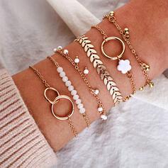 Charme Luim Artistieke Delicaat Gelaagd Legering Armbanden 6 STUKS