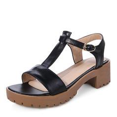 Vrouwen PU Chunky Heel Sandalen Pumps Plateau Peep Toe Slingbacks met Gesp schoenen