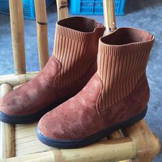 Vrouwen Suede Flat Heel Ronde neus met Effen kleur schoenen